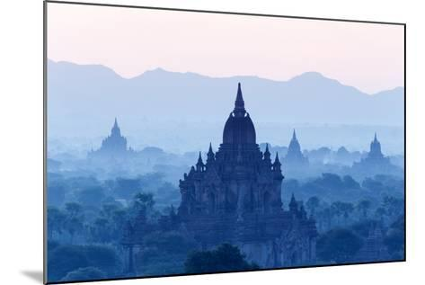 Temples and Pagodas in Early Morning Mist at Dawn, Bagan (Pagan), Myanmar (Burma)-Stephen Studd-Mounted Photographic Print