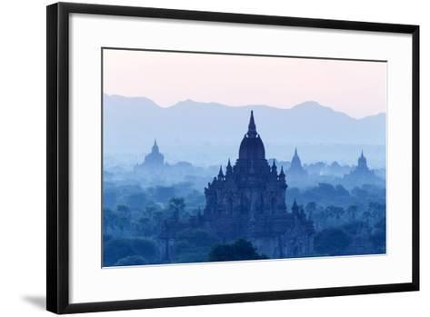 Temples and Pagodas in Early Morning Mist at Dawn, Bagan (Pagan), Myanmar (Burma)-Stephen Studd-Framed Art Print