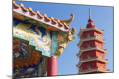 Pagoda at Ten Thousand Buddhas Monastery, Shatin, New Territories, Hong Kong, China, Asia-Ian Trower-Mounted Photographic Print