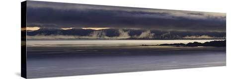 Panoramic View of Dawn Breaking across the Sound of Raasay and the Isle of Rona-John Woodworth-Stretched Canvas Print