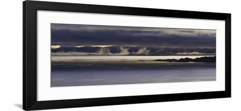 Panoramic View of Dawn Breaking across the Sound of Raasay and the Isle of Rona-John Woodworth-Framed Art Print
