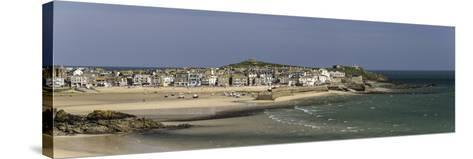 Panoramic Picture of the Popular Seaside Resort of St. Ives, Cornwall, England, United Kingdom-John Woodworth-Stretched Canvas Print