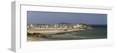 Panoramic Picture of the Popular Seaside Resort of St. Ives, Cornwall, England, United Kingdom-John Woodworth-Framed Art Print