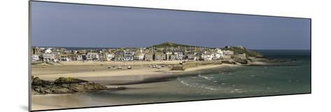 Panoramic Picture of the Popular Seaside Resort of St. Ives, Cornwall, England, United Kingdom-John Woodworth-Mounted Photographic Print
