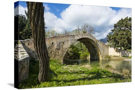Old Roman Bridge, Preveli, Crete, Greek Islands, Greece, Europe-Michael Runkel-Stretched Canvas Print