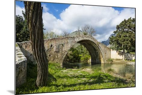 Old Roman Bridge, Preveli, Crete, Greek Islands, Greece, Europe-Michael Runkel-Mounted Photographic Print