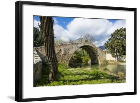 Old Roman Bridge, Preveli, Crete, Greek Islands, Greece, Europe-Michael Runkel-Framed Art Print