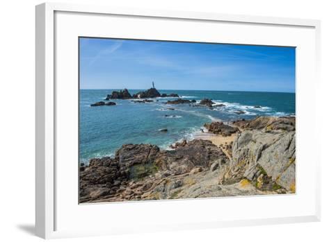 La Corbiere Lighthouse, Jersey, Channel Islands, United Kingdom-Michael Runkel-Framed Art Print