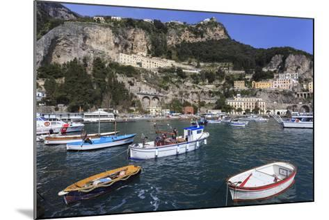 Fishing Boats in Amalfi Harbour-Eleanor Scriven-Mounted Photographic Print