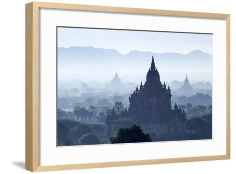 North Guni Temple, Pagodas and Stupas in Early Morning Mist at Sunrise, Bagan (Pagan)-Stephen Studd-Framed Art Print
