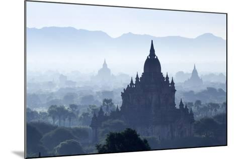 North Guni Temple, Pagodas and Stupas in Early Morning Mist at Sunrise, Bagan (Pagan)-Stephen Studd-Mounted Photographic Print