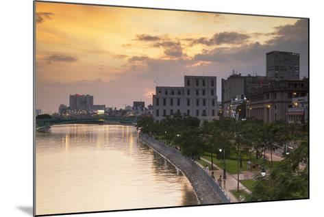 View of Park and Ben Ngde River at Sunset, Ho Chi Minh City, Vietnam, Indochina-Ian Trower-Mounted Photographic Print