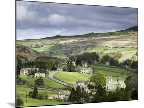 View of the Village of Langthwaite in Arkengarthdale, Yorkshire, England, United Kingdom-John Woodworth-Mounted Photographic Print