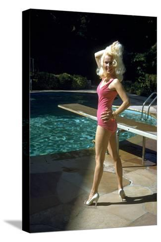 American Actress Mamie Van Doren C. Late 50's--Stretched Canvas Print