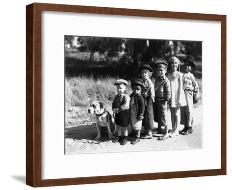Serie Televisee Les Petites Canailles the Little Rascals, 1933--Framed Art Print