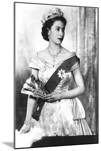 Queen Elizabeth II of England (Daughter of Georgevi) Here in 1952--Mounted Photo