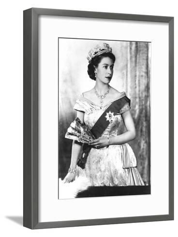 Queen Elizabeth II of England (Daughter of Georgevi) Here in 1952--Framed Art Print