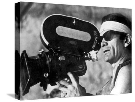 Italian Director Pier Paolo Pasolini on Set of Film Canterbury Tales 1972--Stretched Canvas Print