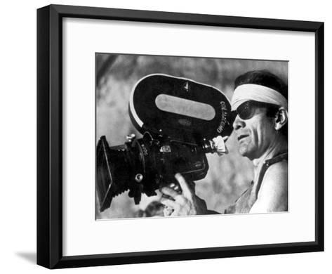 Italian Director Pier Paolo Pasolini on Set of Film Canterbury Tales 1972--Framed Art Print
