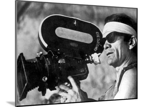 Italian Director Pier Paolo Pasolini on Set of Film Canterbury Tales 1972--Mounted Photo