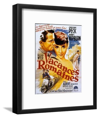 Roman Holiday, Audrey Hepburn, Gregory Peck, 1953--Framed Art Print