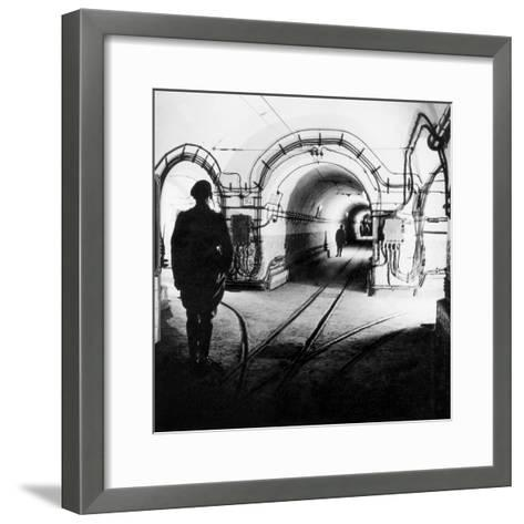 Underground Galleries in Line Maginot (France) 1939-1940--Framed Art Print