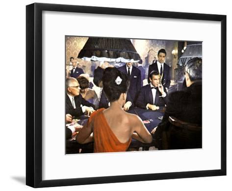 James Bond 007 Contre Docteur No Dr. No De Terenceyoung Avec Sean Connery 1962--Framed Art Print