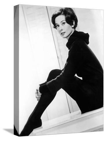 American Actress Audrey Hepburn C. 1957--Stretched Canvas Print