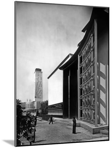 World Fair, Paris, 1937 : the Pavilion of Metal : Wrought Iron Door by Raymond Subes--Mounted Photo