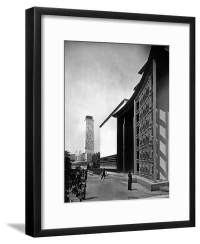 World Fair, Paris, 1937 : the Pavilion of Metal : Wrought Iron Door by Raymond Subes--Framed Art Print