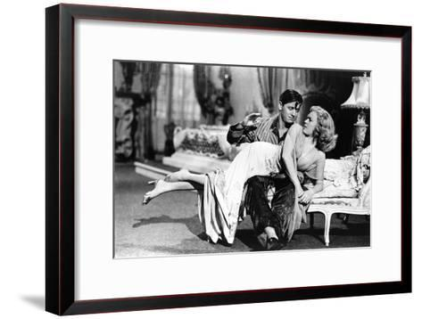 Woman Laid on the Kneel of a Man Have Her Bottom Smacked, 40'S--Framed Art Print
