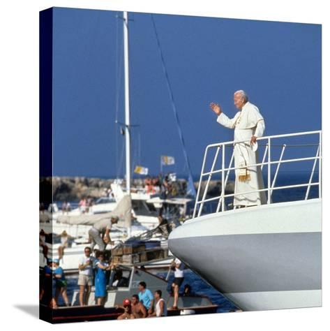 Pope John Paul II During Travel in USA in 1979--Stretched Canvas Print
