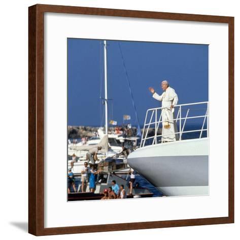 Pope John Paul II During Travel in USA in 1979--Framed Art Print