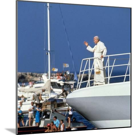 Pope John Paul II During Travel in USA in 1979--Mounted Photo