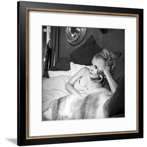 """French Actress Marie-France Boyer on the Set of the Film """"Sin with a Stranger"""" June 27, 1967--Framed Art Print"""