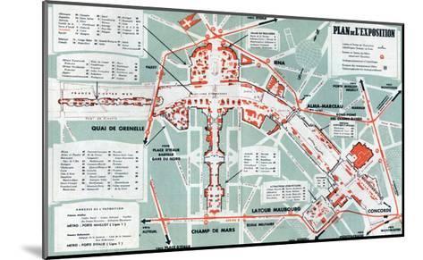Map of the World Fair, Paris, 1937--Mounted Art Print