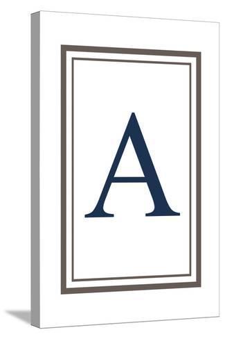 Monogram - Estate - Gray and Blue - A-Lantern Press-Stretched Canvas Print
