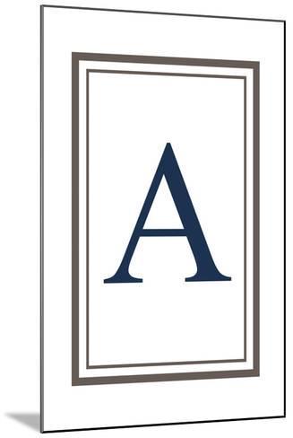 Monogram - Estate - Gray and Blue - A-Lantern Press-Mounted Art Print