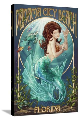 Panama City Beach, Florida - Mermaid-Lantern Press-Stretched Canvas Print