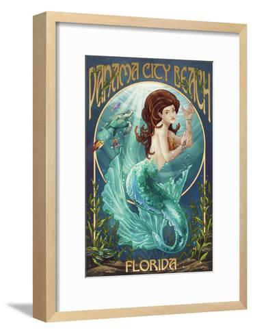 Panama City Beach, Florida - Mermaid-Lantern Press-Framed Art Print