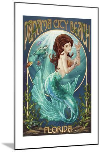 Panama City Beach, Florida - Mermaid-Lantern Press-Mounted Art Print