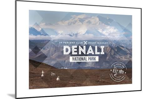 Denali National Park, Alaska - 30% Club-Lantern Press-Mounted Art Print