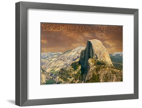 Yosemite National Park, California - Half Dome from Glacier Point-Lantern Press-Framed Art Print