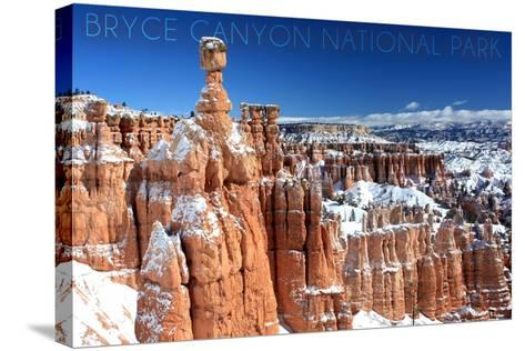 Bryce Canyon National Park, Utah - Thors Hammer Winter-Lantern Press-Stretched Canvas Print
