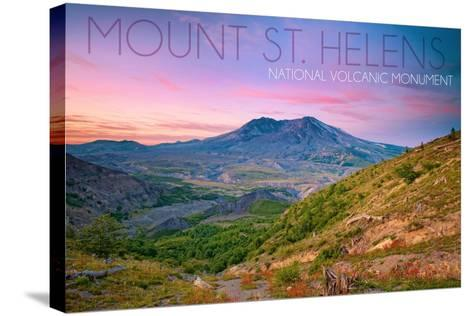 Mount St. Helens, Washington - Twilight Scene-Lantern Press-Stretched Canvas Print