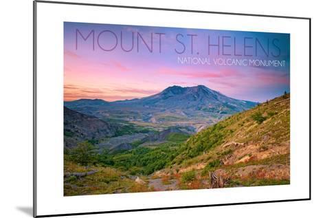 Mount St. Helens, Washington - Twilight Scene-Lantern Press-Mounted Art Print