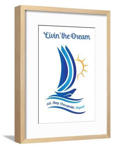Chesapeake, Virginia - Livin' the Dream-Lantern Press-Framed Art Print