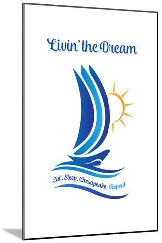 Chesapeake, Virginia - Livin' the Dream-Lantern Press-Mounted Art Print