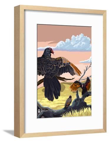 Vultures-Lantern Press-Framed Art Print