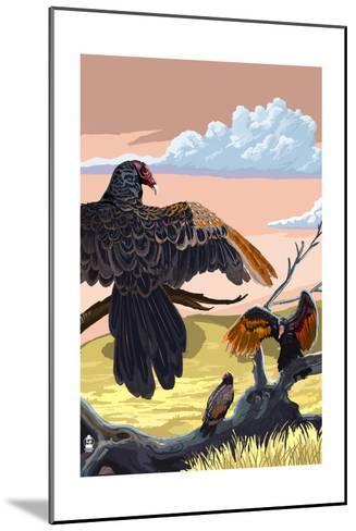 Vultures-Lantern Press-Mounted Art Print